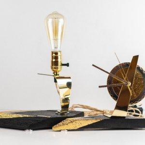 Комплект з лампи та годинника PRIDE&JOY ІЗ МОРЕНОГО ДУБА 01E