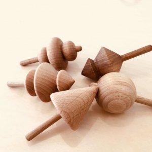 """Дерев'яна іграшка """"Дзига"""" - Віхало, Хуга, Юга, Метелиця"""