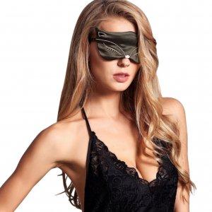 Маска для сна с широкой резинкой Silenta Fox Black + беруши