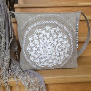 Льняна сумка «Кола життя»