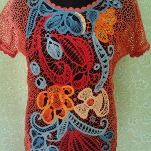 Блуза Космические Цветы