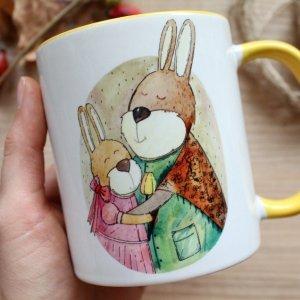 """Чашка з авторської ілюстрацією """"Мама"""""""