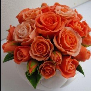 Робота Горшочек с розами