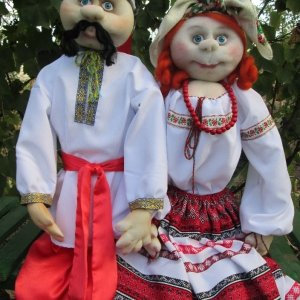 Ляльки в національних костюмах, інтер'єрна лялька