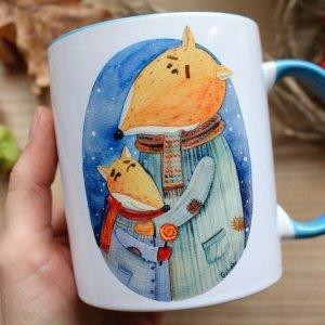 """Чашка с авторской иллюстрацией """"Батьки"""""""