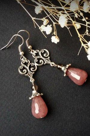 Рожеві сережки кульчики